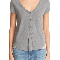 T by Alexander Wang Short Sleeve Henley | Nordstrom