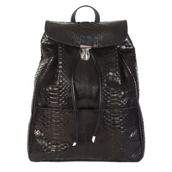 Illesteva Charlie Python Backpack - Black Backpack - ShopBAZAAR