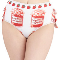 ModCloth Rockabilly High Waist Jamming Out Swimsuit Bottom