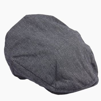 Speckled Chambray Newsboy Cap - Slate