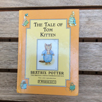 The Tale of Tom Kitten - Vintage Beatrix Potter Children's Book, 1992