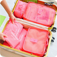 6Pcs/set Travel Storage Boxes Waterproof Organizer for Underwear Clothing Storage Bags Set Container Women Bags Luggage Bag