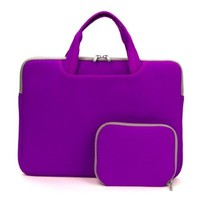 Coodio® Universal 15.6 inch Laptop Sleeve Bag Case Pouch Carrying Handbag Briefcase + Accessory Bag for Apple Macbook Pro Retina 15 (Fit all 15.6 inch ultrabook laptop) (Violet)