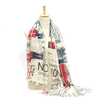 Fashion British style women scarves casual letters printing scarves shawls 185 * 90 cm cotton scarves