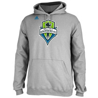 Seattle Sounders FC adidas Logo Set Pullover Hoodie - Gray