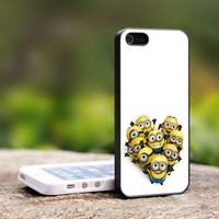 Despicable Me Minion all friend - For iPhone 5 Black Case Cover