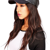 Ballpark Pleather Cap
