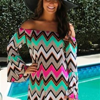 razberry fizz tunic dress off the shoulder