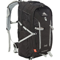 High Sierra Ascender 40 Hiking Backpack Black/Black/Silver - High Sierra Backpacking Packs - Default