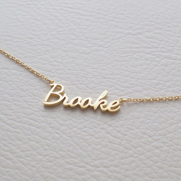 Custom Name Necklace - Personalized Name Jewelry - Your Name on Necklace - Mother's Gift - PN02F11