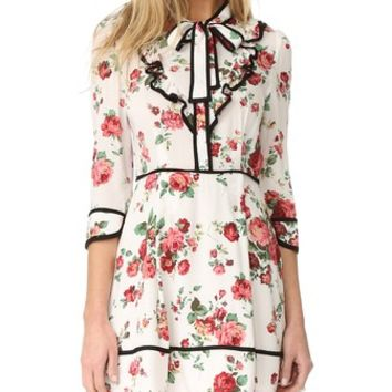 Floral Neck Tie Dress