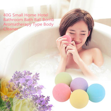 40G Small Size Home Hotel Bathroom Bath Ball Bomb Aromatherapy Type Body Cleaner Handmade Bath Bombs Gift Hot Sale