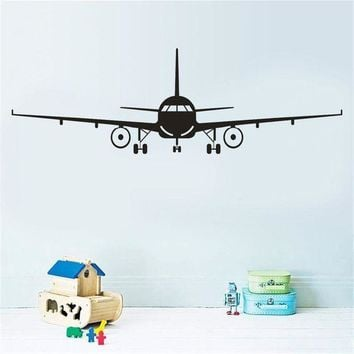 ONETOW Aircraft Wall Stickers for Home Decoration Boy Kids Room Decals Mural Art Posters Wallpaper stickers muraux