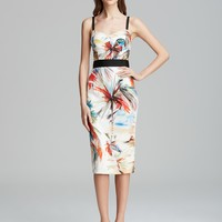 MILLY Dress - Parrot Print Bustier Strap