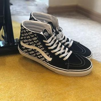VANS SK8 Simple Full Print Logo Sneakers Casual Shoes