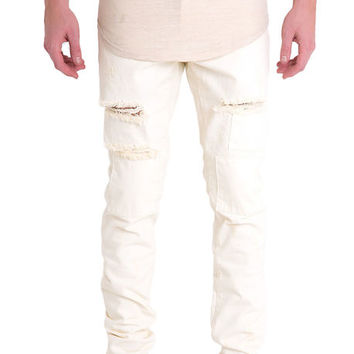 The Roy Denim in White