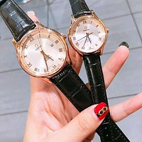 Omega Couple  Fashion Quartz Watches Wrist Watch