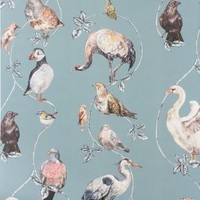 Flights Of Fancy Wallpaper by Anthropologie Blue One Size Wallpaper