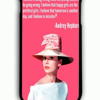 iPhone 6 Plus Case - Rubber (TPU) Cover with Audrey Hepburn Quotes poster Rubber Case Design
