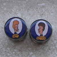 Pierced and Belligerent Beavis & Butthead Plugs