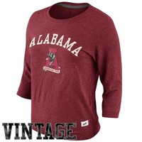 Nike Alabama Crimson Tide Ladies Vault Hail Mary 3/4-Sleeve T-Shirt - Crimson