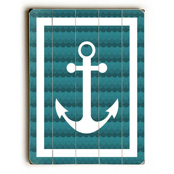 Anchor by Lotus Leaf Collection Wood Sign