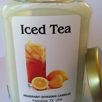 Handmade ICED TEA scented 12 oz. Soy Candle, Wholesale Bulk Discount Pricing available for Wedding & Baby Shower Favors
