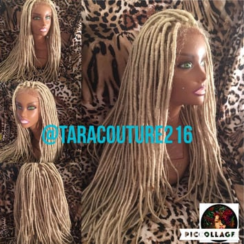 Dreadlock Faux loc Lace front wig