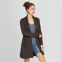 Women's Cable Open Cardigan Sweater - A New Day™