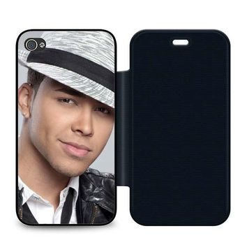 Prince Royce Hat Leather Wallet Flip Case iPhone 4 | 4S