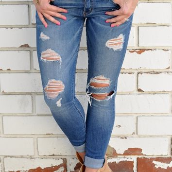 Boulevard Distressed Jeans