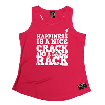 Adrenaline Addict Happiness Is A Nice Crack And A Large Rack Rock Climbing Girlie Training Vest