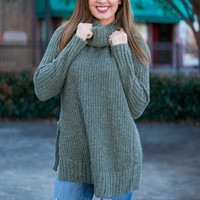 Softly Surreal Tunic, Olive