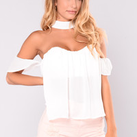 Piper Off Shoulder Top - White