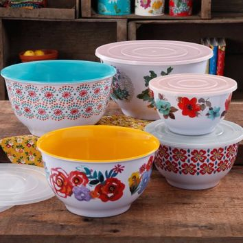 The Pioneer Woman Country Garden Nesting Mixing Bowl Set, 10-Piece - Walmart.com