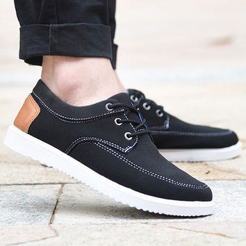 Mens Casual Comfortable Slip-On Shoes