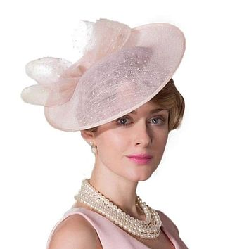 Linen Pillbox  Fascinator's Hat Derby Dress Summer Cocktail Fedoras