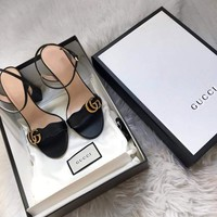 shosouvenir  GUCCI A word with thick heel heel shoes with high heel shoes