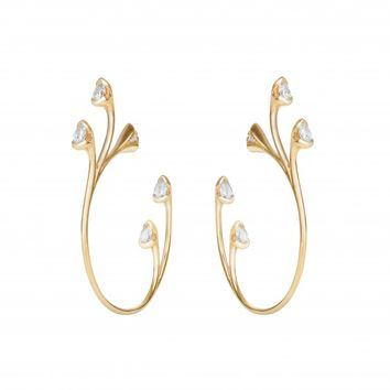Fernando Jorge - Sprouting Diamond Hoop Earrings justoneeye.com
