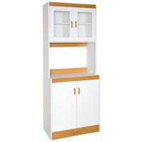 Tall Kitchen Storage Cabinet Cupboard with Microwave Space