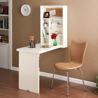 Southern Enterprises Fold-Out Convertible Desk - Winter White | Meijer.com