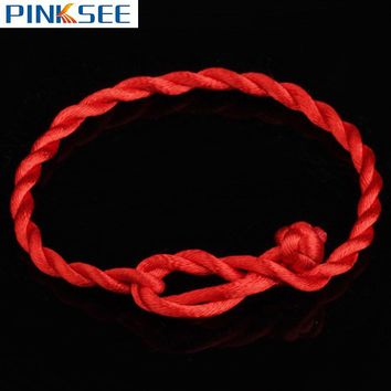2pcs Men Women Good Luck Handmade Braided Red String Rope Cord Bracelet for Lovers Simple Lucky Couple Bracelet Gift