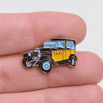 Taxi, taxi enamel pin, enamel lapel pin, car enamel pin, city lapel pin, city enamel pin