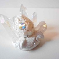 Wind and Air Fantasy Dragon Egg Sculpture with Swarovski Crystal and coloured Cr