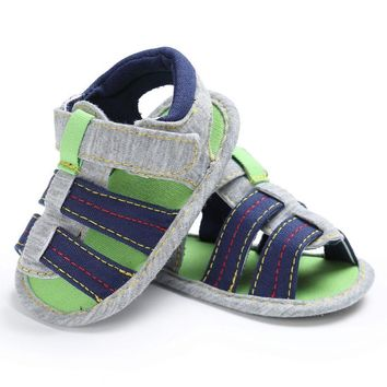 Canvas Infant Kids Girl/boys Soft Sole Crib Sandals