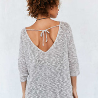 Project Social T Marled Tie-Back Pullover Sweater - Urban Outfitters
