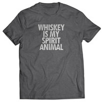Whiskey Is My Spirit Animal T Shirts Mens T Shirt