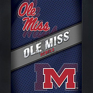 LED lighted 3D Art Officially NCAA Licensed Picture Ole Miss Rebels