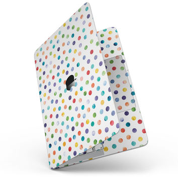 "Rainbow Watercolor Dots over White - 13"" MacBook Pro without Touch Bar Skin Kit"