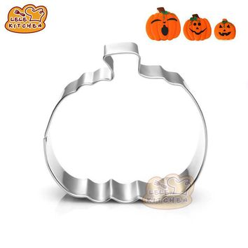 1pc Halloween Pumpkin Cookie Cutter 3D Metal Sugarcraft Fondant Biscuit Pastry Baking Mold DIY Home Party Cake Decorating Tools